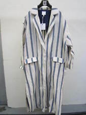 ASOS WHITE Striped Duster Coat White/Navy UK 16 US 12 EUR 44 (CAD1)