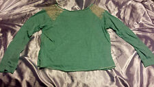 FOR SALE: DELIA'S Mint Green Long-Sleeve Shirt - Size Large (JUNIORS)