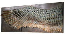 """36.5"""" Wing of Icarus Sculptural Metal Wall Relief Frieze Replica Reproduction"""