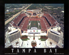 Tampa Bay Bucs Raymond James Stadium Aerial View Poster Print (w/Old Stadium)