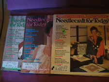 Lot 3 Needlecraft for Today Magazines '80s Life Size Santa Afghan Lace Japanese