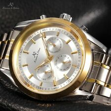 New Men's KS Gold Case Date Day Automatic Mechanical Stainless Steel Sport Watch