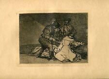 GOYA «Esto es malo» Grabado (engraving) original nº 46 Desastres (War Disasters)