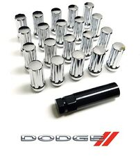 "32PC 9/16"" 51MM CHROME STEEL SPLINE LUG NUTS W/ KEY FOR CHEVY DODGE RAM 2500"