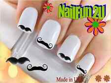 "RTG Set#577 IMAGE ""Mustache 1 Stache"" WaterSlide Decals Nail Art Transfers Salon"