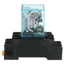 DC 12V Coil Power Relay 10A DPDT LY2NJ with PTF08A Socket Base