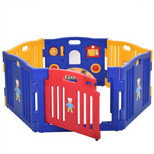 Baby Playpen Kids 6 Panel Safety Play Center Yard Home Indoor Outdoor Pen