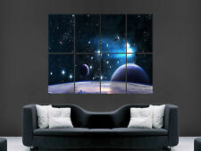 SPACE STARS PLANETS DIGITAL ART HUGE BIG  LARGE WALL POSTER PICTURE PRINT
