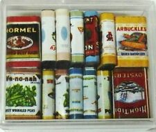 Dollhouse Miniature Victorian Grocery Tin Tins Food Set