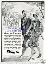 Sportkleidung Bleyle Reklame von 1929 Tennis Park Famile Kickerbocker Mode 20er