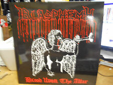 BLASPHEMY BLOOD UPON THE ALTAR/GODS OF WAR USED LP OSMOSE  WHITE VINYL