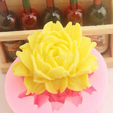 Big Rose Flower Soap Mould Flexible Silicone Fondant Cake Mold Chocolate Mould