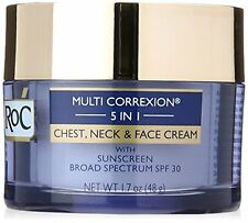 Roc Multi Correction 5-in-1 Chest, Neck & Face Cream, SPF 30, 1.7 Oz in box