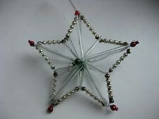 "Antique Russian Christmas Silver Glass Ornament Construction ""Star"""