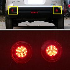 Red LED Rear Bumper Reflector fog Light For NISSAN QASHQAI 2010 2011 2012 2013