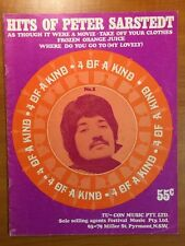 Peter Sarstedt Where do you go to, take off your clothes 4 Song Book Sheet Music