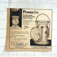 1937 Ep Barrus Practical Electric Lantern