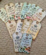 12 keep calm and carry on gift tags retro vintage birthday party decoration