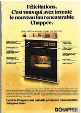 Publicité Advertising 1976 Le Four encastrable Chappée
