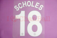 Scholes #18 2008-2011 Manchester United CL Homekit Nameset Printing