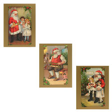 75 Victorian Father Christmas Petite Christmas Gift Cards