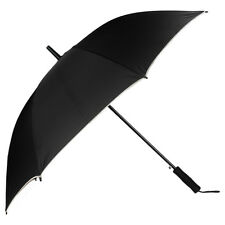 Black Heavy Duty Compact Travel  Windproof  Auto Open UV Protect Long Umbrella