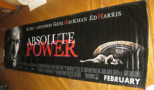 "ABSOLUTE POWER - 1997 THEATER CINEMA MOVIE VINYL BANNER 36""x120"" or 3'x10'"