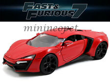 JADA 97377 2015 FAST AND FURIOUS 7 LYKAN HYPERSPORT SUPERCAR 1/24 DIECAST RED