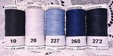 5 NEW 274 yard Spools different colors GUTERMANN 100% polyester sew-all thread