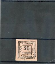 GUADELOUPE Sc J9(YT T9)VF USED 1884 20c ROSE, POSTAGE DUE, $225