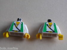 Lego 2 torses set 6250 6249 6296 6281 /2 white torso from minifig