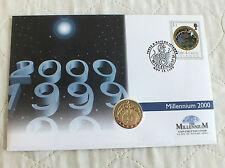 Islas Turcas y Caicos 2000 Millennium 25 corona de oro y plata moneda de prueba Cubierta