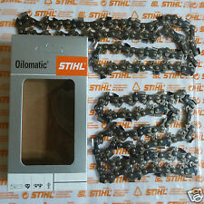 "Two 14"" 35cm Genuine Stihl Chainsaw Chain MS170 170 017 3/8"" PMM 50 DL Tracked"