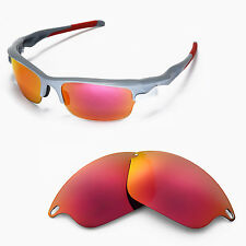 New WL Polarized Fire Red Replacement Lenses For Oakley Fast Jacket Sunglasses