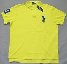 $98 New XXL 2XL POLO RALPH LAUREN Men Big Pony shirt Neon Yellow Custom fit top