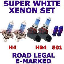 KIA CERATO 2000-ON  SET H4  HB4  501 SUPER WHITE XENON LIGHT BULBS