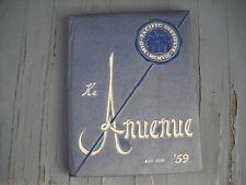 """1959 Mid-Pacific High School Yearbook """"Ke Anuenue"""" Honolulu Oahu Hawaii"""