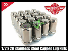 24 STAINLESS STEEL CAPPED TRAILER BULGE ACORN LUGS 1/2-20   2 INCH TALL