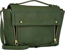 3.1 Phillip Lim Pashli Leather Messenger Satchel Bag in Green