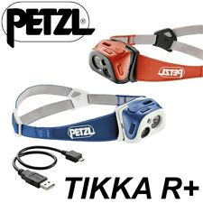 PETZL TIKKA R+ Lampada Frontale Batteria Litio Li Reactive Lighting USB PLUS E92