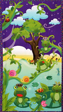 Avlyn Fabrics Before The Kiss Toad Frog Prince Cotton Fabric Wall Hanging PANEL