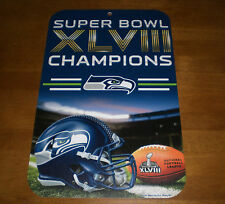 2014 SEATTLE SEAHAWKS SUPER BOWL XLVIII CHAMPIONS 11x17 SIGN - NEW