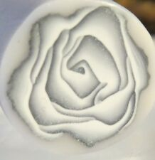 Unbaked polymer clay cane, Silver rose cane, circle rose art.