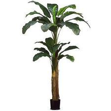 8' DOUBLE BANANA PALM ARTIFICIAL TREE PLANT POT ARRANGEMENT FLOWER FLORAL BUSH
