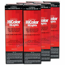 (Pack of 6) Loreal Excellence Hicolor Hilights Creme Permanent Color - MAGENTA