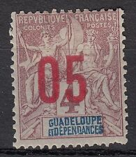 GUADELOUPE  TIMBRE COLONIE  FRANCE  NEUF  N° 72 * SURCHARGE VARIETE