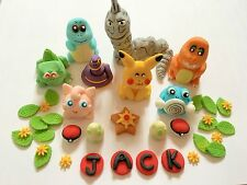 Edible In The Style Of Pokemon Pickachu Big Set Cake Topper Decoration