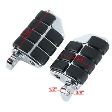 Chrome Anti Vibration Rubber Lion Paw Footrest Footpegs For Harley Davidson FXST