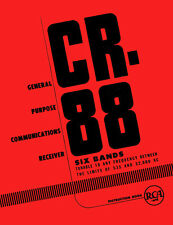 RCA CR88 CR-88 Communication Receiver Manual