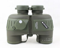 Hunting sports floating binoculars scope 10x50 built in compass & range finder